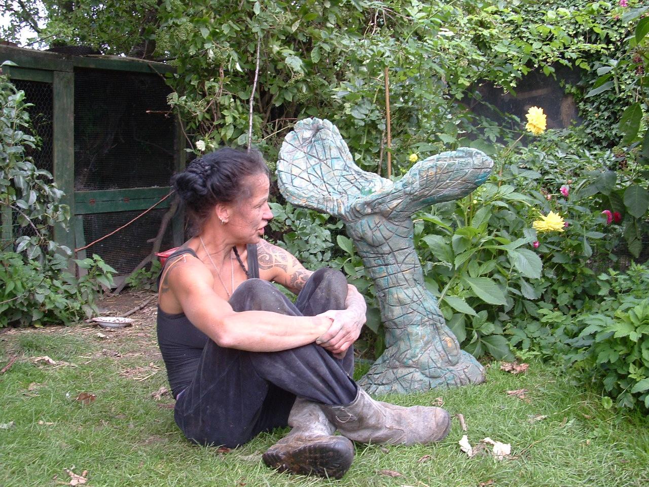Waterspuwend tuinbeeld, 425 euro